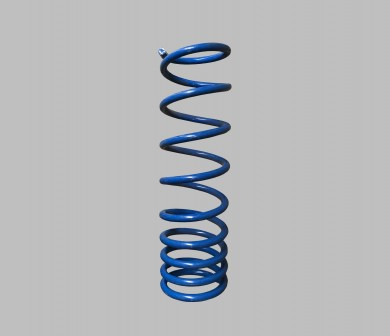 Rear coil spring variable step
