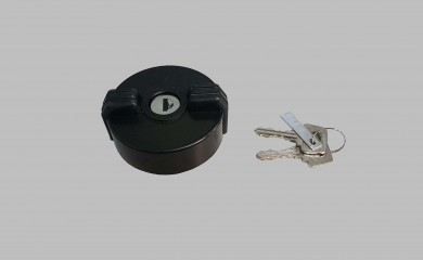 Fuel filler cap with keys outer thread