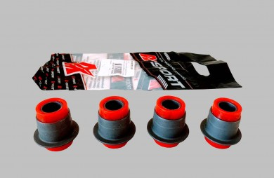 Lever silentbock set 4 pcs red