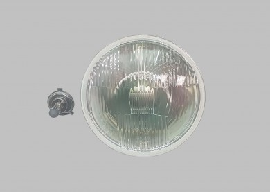 Headlight shell with bulb philips