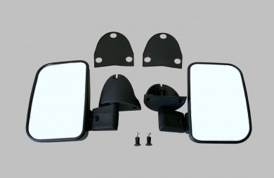 Exterior mirror set with locking bolt
