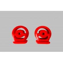 Тампони гърне полиуретан червени комплект