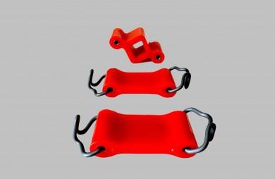 Ремонтен комплект окачване гърне червен полиуретан